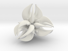 Folium Collection No.1 in White Natural Versatile Plastic: Medium