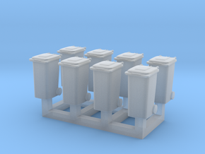 TT Trash bin set C ( 8 pcs ) 1:120 scale  in Smoothest Fine Detail Plastic
