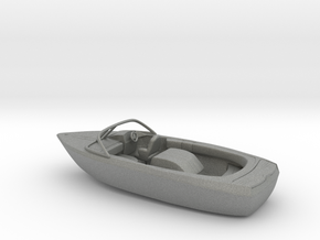 Motorboat 1:100 scale in Gray Professional Plastic