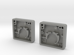 Pair of Blaster Stock Center Greeble in Gray Professional Plastic