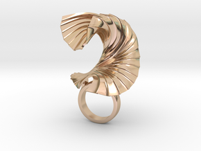 The Paper Wave in 14k Rose Gold Plated Brass
