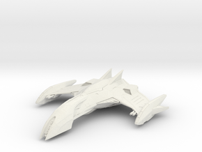"Romulan Eagle Class WarBird 2.8"" long in White Natural Versatile Plastic"