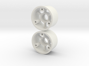 """2WD - 11mm """"No glue !"""" - Offset 0 in White Natural Versatile Plastic"""