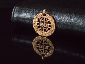 CS:GO Global Elite Pendant in Polished Gold Steel