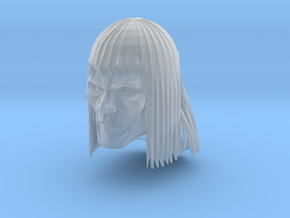Barbarian Head 1 in Smooth Fine Detail Plastic