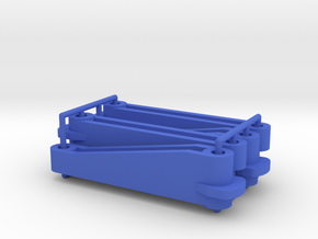 Tamiya Thundershot D2 parts (x4) in Blue Processed Versatile Plastic