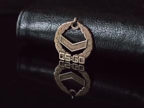 CS:GO Silver 1 Pendant in Polished Nickel Steel