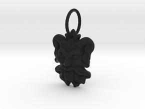 Sarabanda_medalyon_S in Black Natural Versatile Plastic
