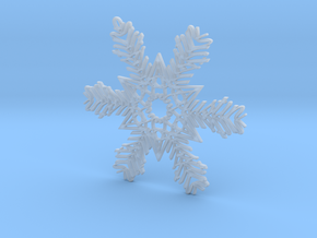 Austin snowflake ornament in Smooth Fine Detail Plastic