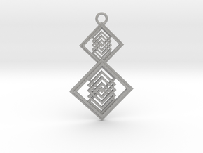 Geometrical pendant no.15 in Aluminum
