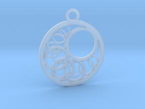 Geometrical pendant no.16 in Smooth Fine Detail Plastic: Medium