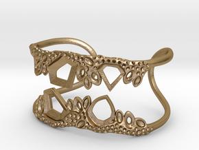 Cosplay Club Cuff in Polished Gold Steel