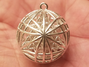 "Tantric Star of Awesomeness 1"" Pendant  in Natural Silver"
