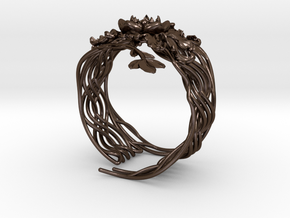 Preludio_slave bracelet in Polished Bronze Steel