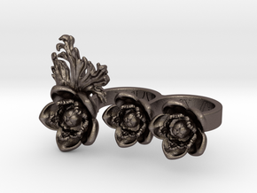 Preludio3_size S in Polished Bronzed-Silver Steel