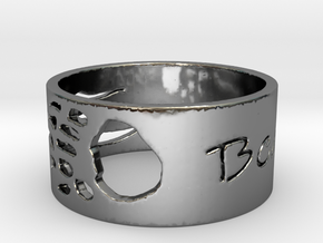 Mens Bears Claw Ring in Fine Detail Polished Silver: 5 / 49