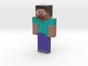 steve | Minecraft toy in Natural Full Color Sandstone
