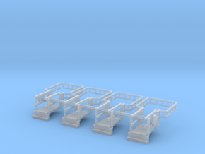 N Scale Tank Car loading Bridge 4x Down in Smooth Fine Detail Plastic