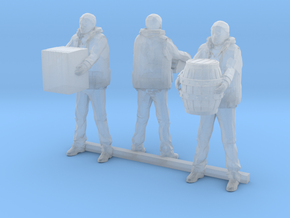 O Scale Dock Workers in Smooth Fine Detail Plastic