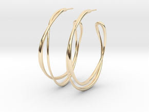 Cosplay Looped Hoop Earring (no guide holes) in 14k Gold Plated Brass