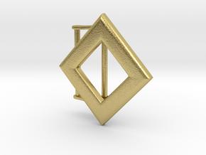 Diamond Belt Buckle in Natural Brass (Interlocking Parts)