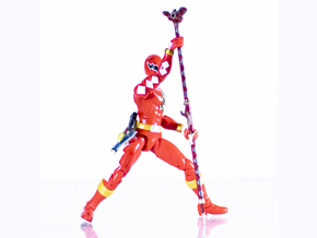 Dinothunder Red Accessory - Power Rangers  in White Natural Versatile Plastic