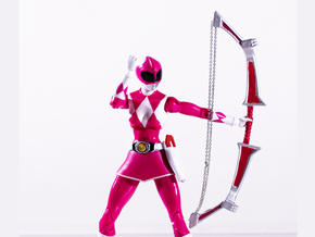 Mighty Pink Accessory - Power Rangers  in White Natural Versatile Plastic