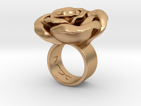 Rosa _Ring_S in Natural Bronze