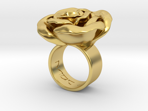 Rosa solitaria_L in Polished Brass