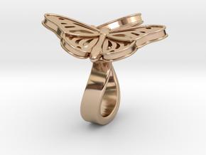 Butterflies in Love_L in 14k Rose Gold Plated Brass