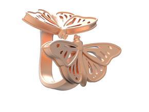 Butterflies in Love_M in 14k Rose Gold Plated Brass