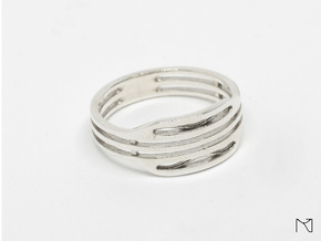 Elegant Ring in Polished Silver: 12 / 66.5