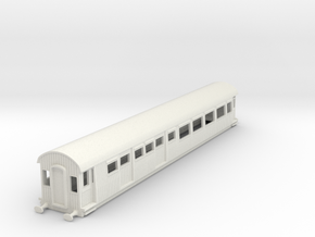 o-87-gcr-barnum-open-3rd-saloon-brake-coach in White Natural Versatile Plastic