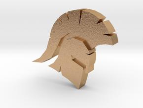 Spartan Head Charm in Natural Bronze