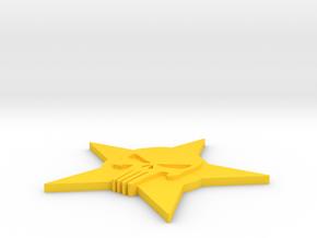 Emblem  skull in Yellow Processed Versatile Plastic