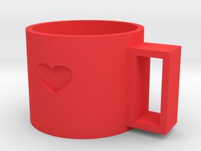 cup in Red Processed Versatile Plastic
