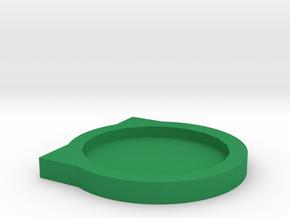 Coaster in Green Processed Versatile Plastic