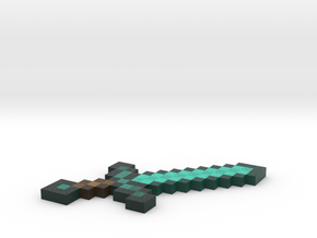 Diamond Sword for Minecraft in Natural Full Color Sandstone