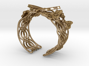Butterflies in Love_Bracelet_M in Polished Gold Steel