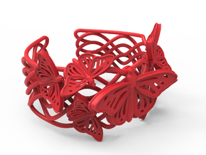 Butterflies in Love_Bracelet_M in Red Processed Versatile Plastic