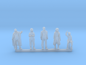 HO/OO Scale People Set 1 in Smooth Fine Detail Plastic