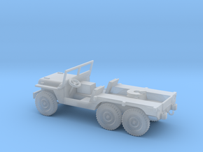1/100 Scale 6x6 Jeep MT Tug in Smooth Fine Detail Plastic