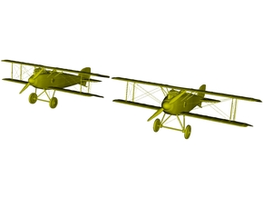 1/285 scale Albatros D.III WWI biplanes x 2 in Smooth Fine Detail Plastic