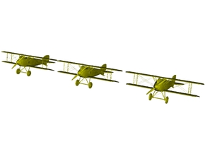 1/285 scale Albatros D.III WWI biplanes x 3 in Smooth Fine Detail Plastic