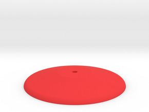 Prism P7 - Base (PART) in Red Processed Versatile Plastic