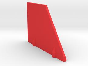 Prism P7 - Left Dock Wall (Bottom Half) (PART) in Red Processed Versatile Plastic