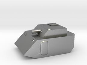 Fox2 Small Grav Tank 1:100 15mm in Natural Silver