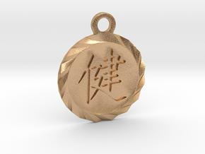 Kanji Health Pendant in Natural Bronze