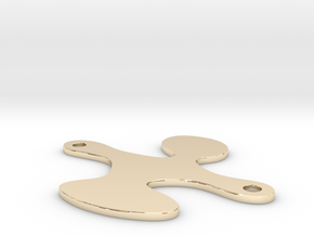 Qlonee Plate 20mm Holes V2 in 14k Gold Plated Brass
