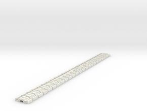p-9st-slim-flexi-tram-track-100-x24-1a in White Natural Versatile Plastic